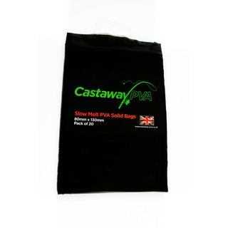 Castaway PVA Slow Melt Solid Bags 80x130mm