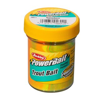 Berkley Powerbait Biodegradable Trout Bait ohne Glitter Rainbow
