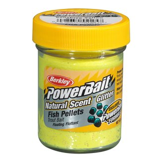 Berkley Powerbait Natural Scent Troutbait Fish Pellet sunshine Yellow
